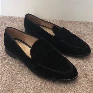 Franco Sarto velvet loafers